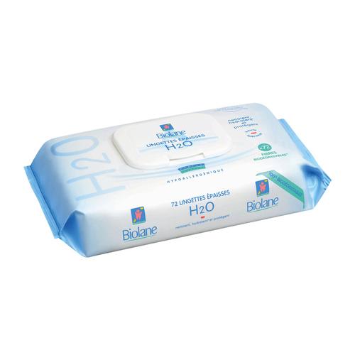 Biolane Lingettes Epaisses H2O Recharge x72