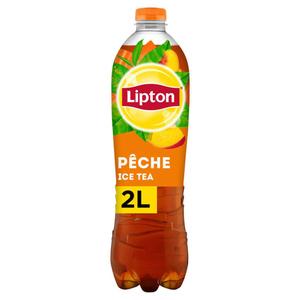 LIPTON Ice Tea Thé Glacé Saveur Pêche Format Familial de 2L