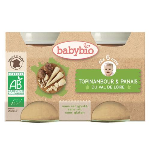 [Par Naturalia] Babybio Petits Pots Topinambourg et Panais 6M 2x130g Bio