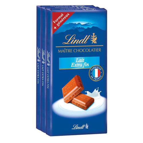 Lindt Maître Chocolatier Lait Extra Fin 110g.