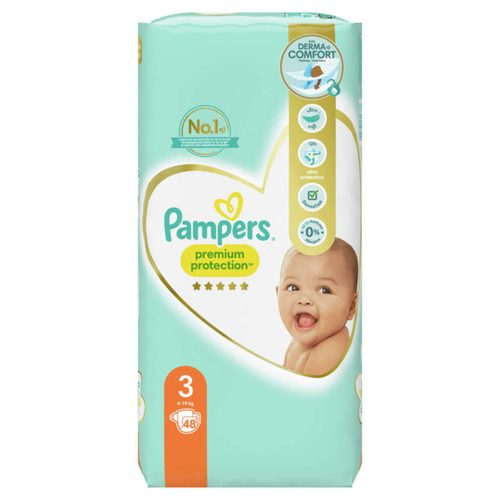 Pampers Premium Protection Couches T3 Géant x48