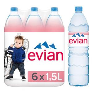 Evian eau minérale naturelle le pack de 6x1,5L