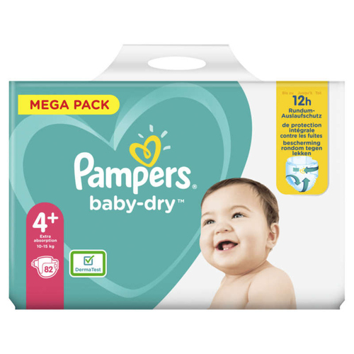 Pampers Baby Dry Mega T4+X82
