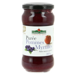 [Par Naturalia] Coteaux Nantais Purée Pommes Myrtille Sans Sucres Ajoutés 360G Bio