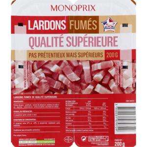 Monoprix Lardons Fumés Qualité Supérieure 200g