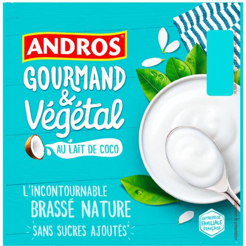 Andros Yaourt Végétal au lait de coco 400g