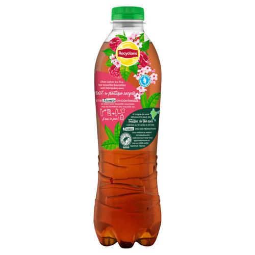 LIPTON Ice Tea Thé Glacé Saveur Framboise Fleur Cerisier la Bouteille de 1L