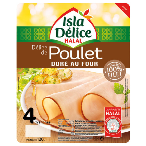Isla Délice Delice de poulet doré au four halal 120g