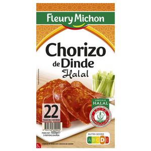 Fleury Michon Chorizo De Dinde Halal 100 G