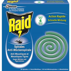 Raid Spirale Anti-Moustiques Usage Extérieur Boîte x10