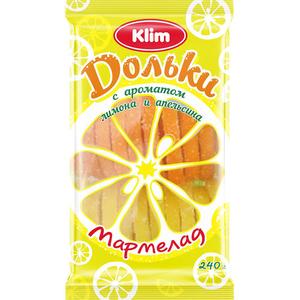Klim Fruits gélifiés orange et citrons 240g