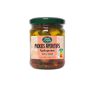 Jardin d'Orante Pickles apéritifs recette aigre douce Thym & tomates 110g