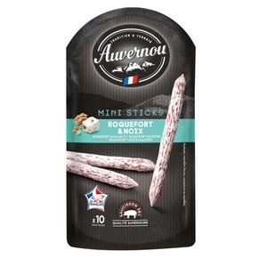 Auvernou Mini'sticks roquefort et noix 100g.