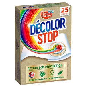 Eau Ecarlate Décolor Stop Lingettes Action Complète x25 .