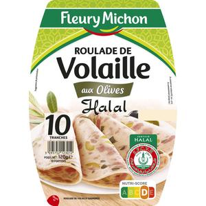 Fleury Michon Roulade De Volaille Aux Olives Halal X10