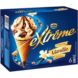 Nestlé Extrême Cônes Vanille &Nougatine 426g