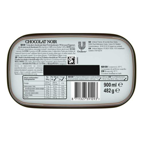 Carte D'or Glace Chocolat Noir 900ml
