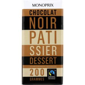 Monoprix Chocolat Noir Pâtissier Dessert 200g