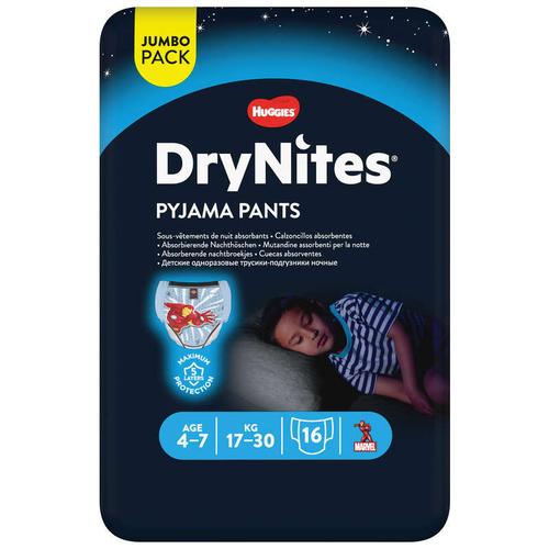 Drynites Culottes De Nuit Garçon 4-7 Ans 16 x 30kG.