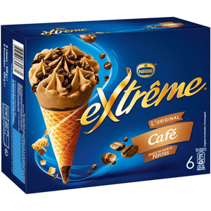 Nestlé Cônes Extrême Café sauce au café et Pépites 6x71g