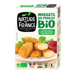 Nature de France Nuggets de volaille bio 200g.