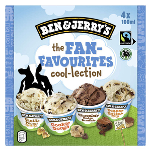 Ben & Jerry's Glace en Mini Pots The Fan-Favourites Cool-lection 4x100ml