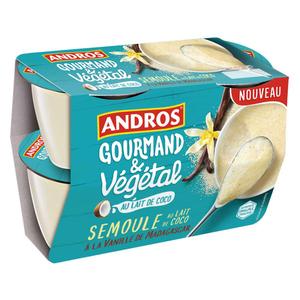 Andros Semoule Coco Vegan pots 4x100g
