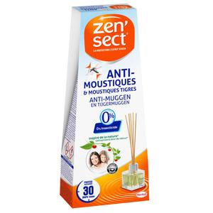 Zen Sect Diffuseur Répulsif et Bâtonnets Anti-Moustiques Flacon 40ml