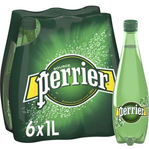 Perrier eau minérale gazeuse le pack de 6x1L