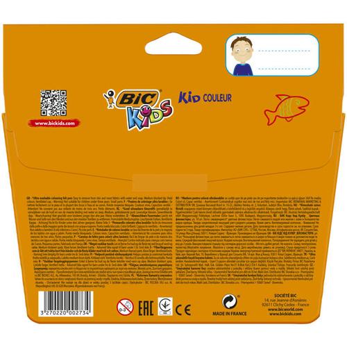 Bic Feutres de Coloriages Kid Couleur x18.
