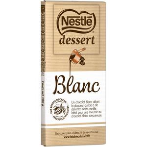 Nestle Dessert tablette Chocolat Blanc 180g.