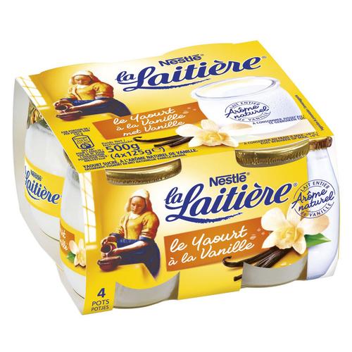 La Laitière Yaourt à la vanille le pack de 4x125g