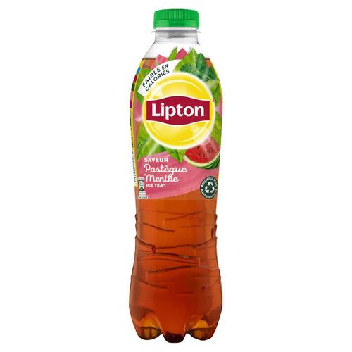 LIPTON Ice Tea Thé Glacé Saveur Pastèque Menthe la Bouteille de 1L