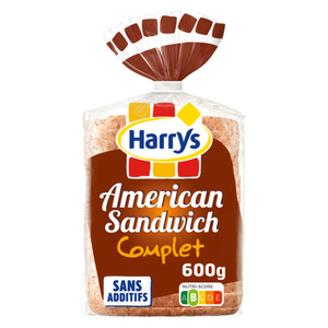 Harrys Pain de Mie American Sandwich Complet 600g
