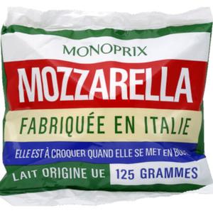 Monoprix mozzarella le sachet de 125g