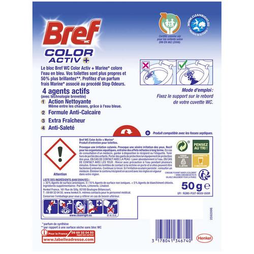 Bref Entretien Bref Wc Color Activ+ Marine 50G.