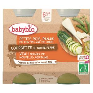 [Par Naturalia] Babybio Petits Pots Légumes et Veau 6M 2x200g Bio