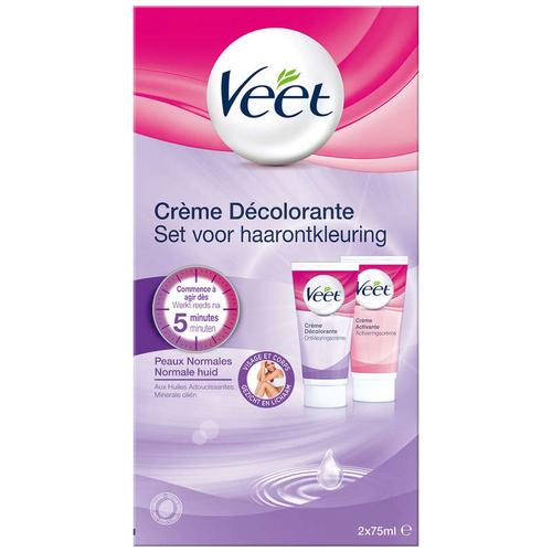 Veet Crème Décolorante Visage et corps 2x75ml