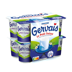 Gervais petits suisses nature 9.5% mg 12x60g