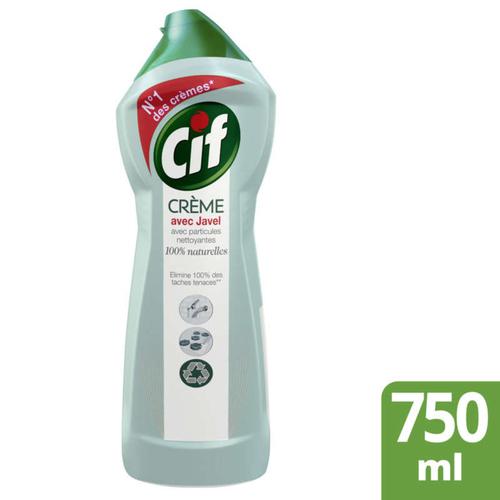 Cif Crème à récurer nettoyant multi surfaces javel 75 cl