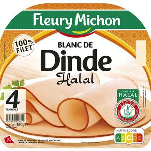 Fleury Michon Blanc De Dinde Halal X4