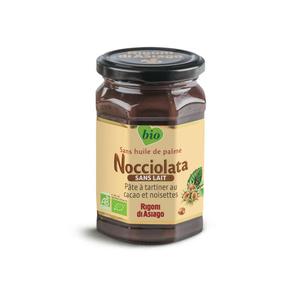 Nocciolata Pâte à tartiner sans lait au cacao et noisettes biologique 270g