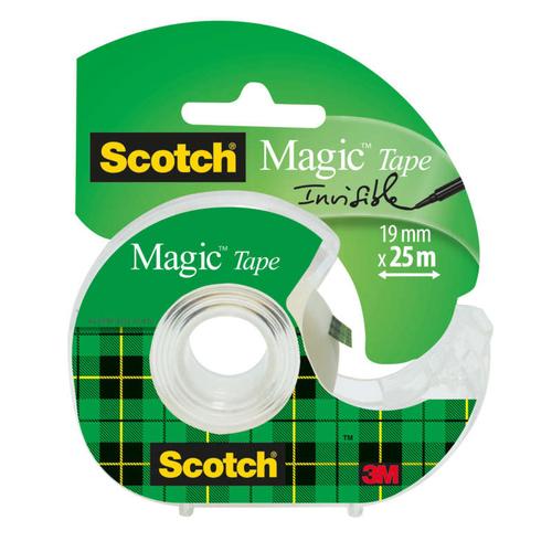 Scotch Ruban adhésif invisible Magic + Dévidoir.