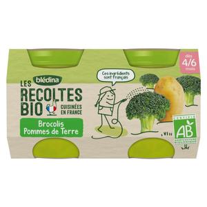 Blédina Brocoli et Pommes de Terre, Bio 2 x 130g