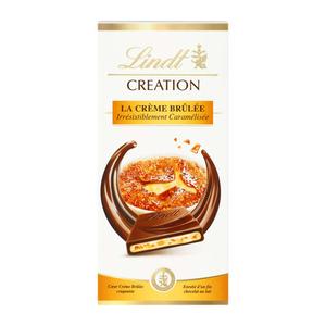 Lindt Creation Tablette Chocolat Crème brûlée 150g