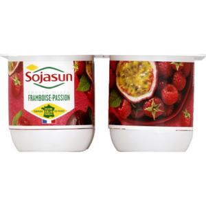 Sojasun Dessert végétal framboise passion 4x100g.