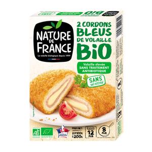 Nature de France Cordon bleu bio emmental x2.