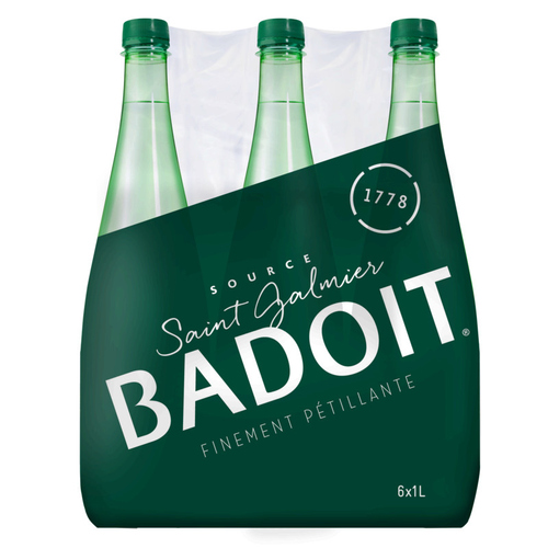 Badoit eau gazeuse finement pétillante  6x1L