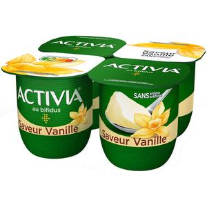 Activia Yaourt vanille bifidus 4x125g