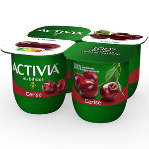 Activia Yaourt aux fruits cerise bifidus 4x125g